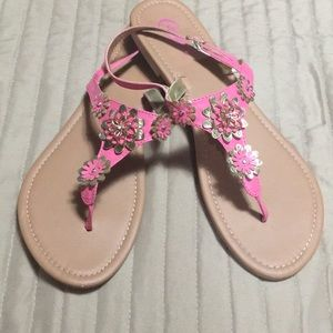 Candies pink flower sandal